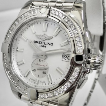 Breitling Galactic with Diamond Bezel