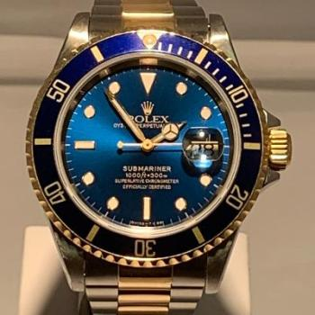 Rolex Submariner Two Tone Blue and Yellow Gold