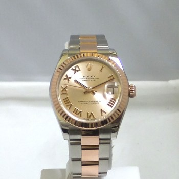 Rolex Ladies Datejust Two Tone Steel and Rose Gold