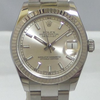 Rolex Ladies Stainless Steel Datejust with Oyster Band