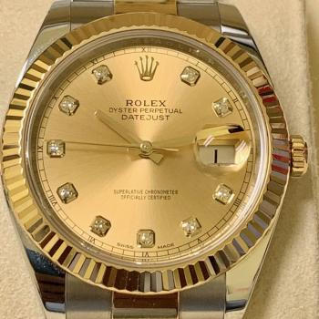 Rolex Oyster Perpetual DateJust – Champagne Diamond
