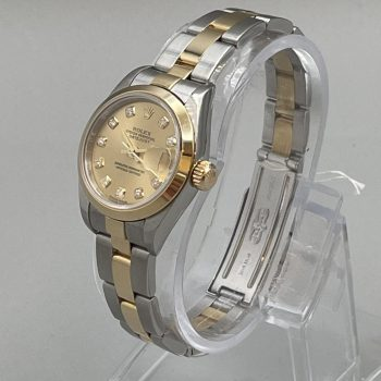 Rolex DateJust Stainless Steel & 18K Gold with Diamond Indices