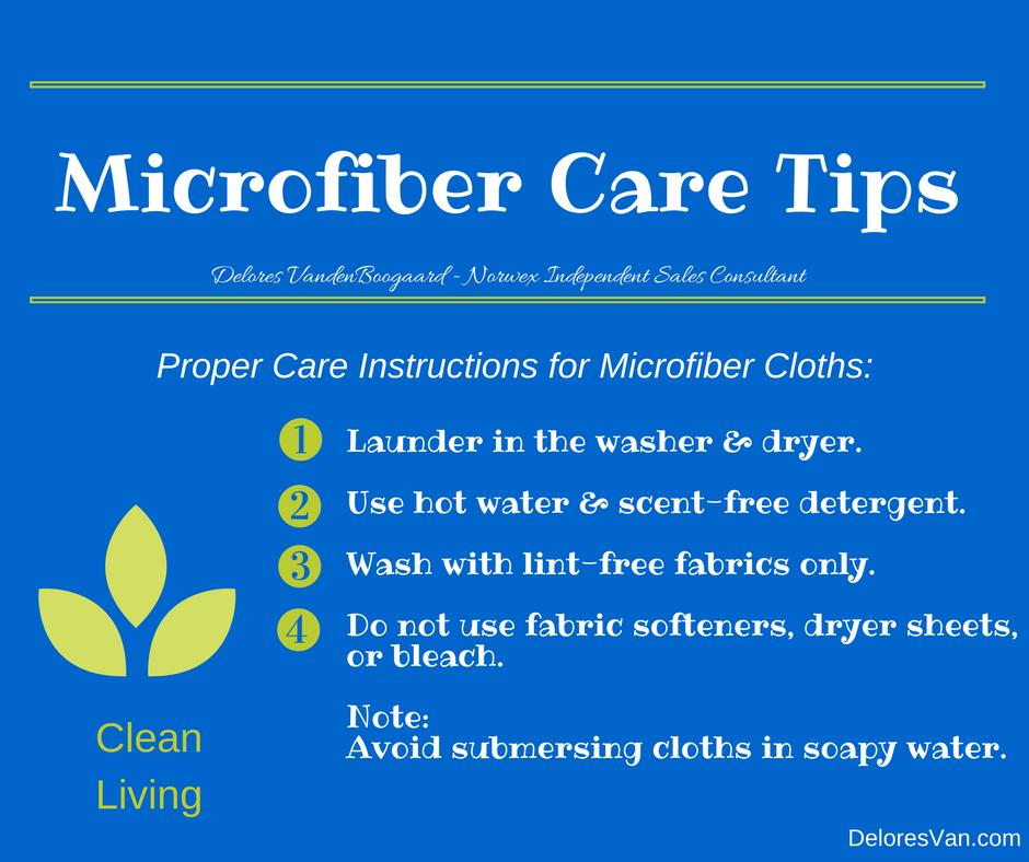 Norwex Microfiber Care Tips