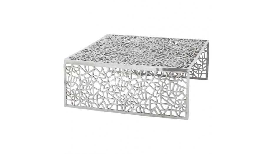 atena table basse en aluminium poli