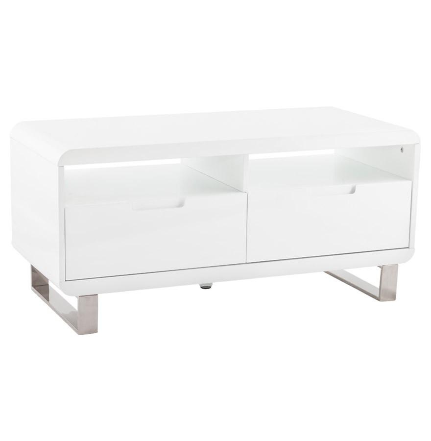 meuble tele blanc laque design 1 metre paris delorm design