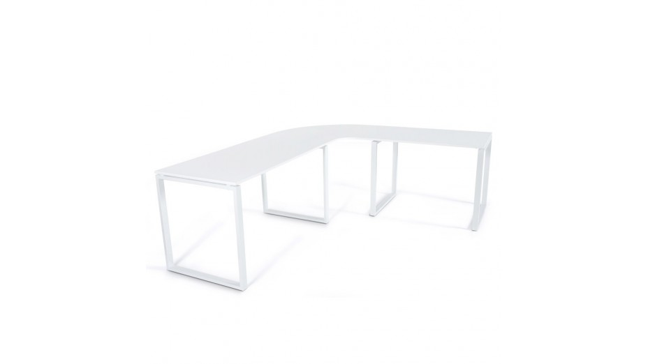 pluton bureau d angle en bois laque blanc