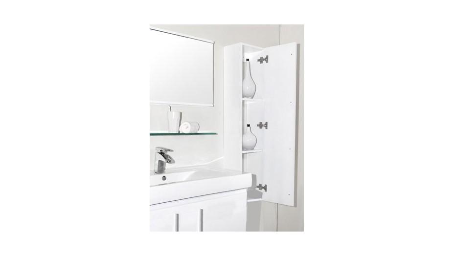 colonne de rangement pour salle de bain blanche