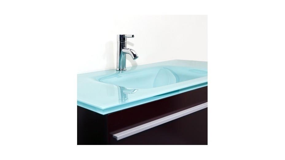 Meuble Double Vasque En Verre | Kapokto