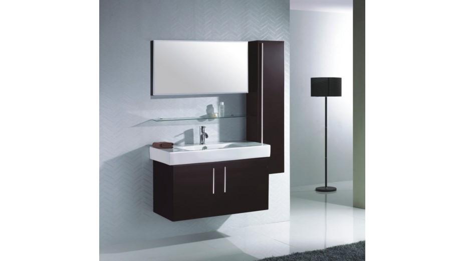 meuble de salle de bain complet avec colonne de rangement manta
