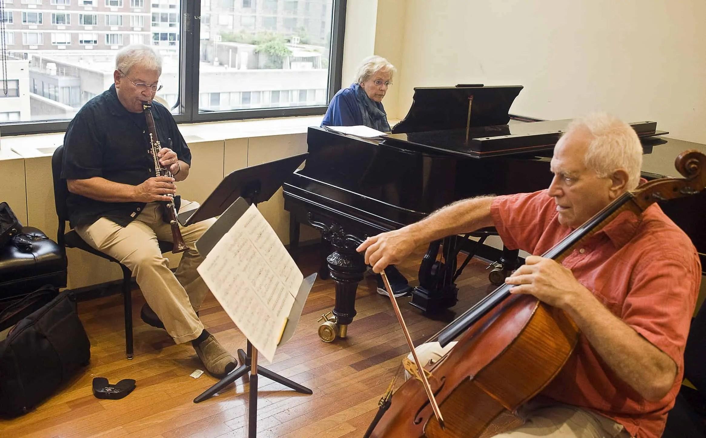 David Shifrin, Carol Rosenberger, and Fred Sherry