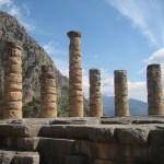 Columns of the Temple of Apollo at Delphi, Greece