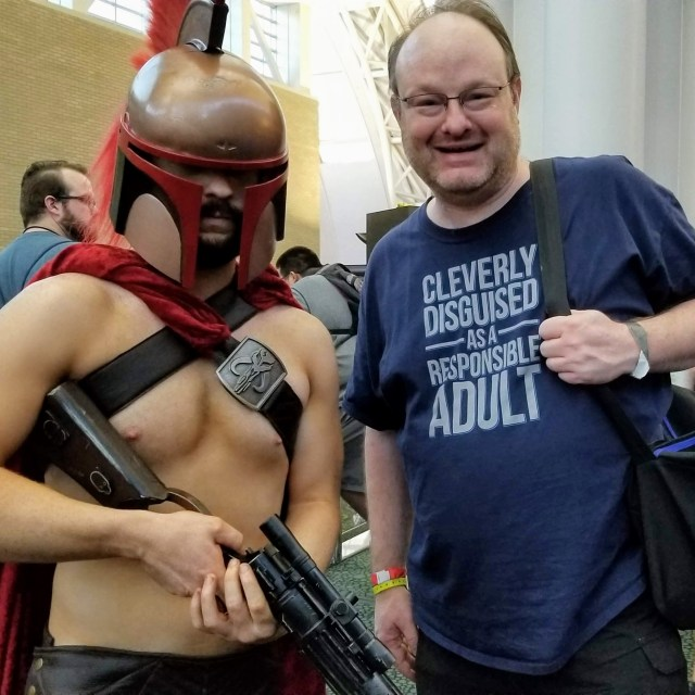 Me with a Spartan Boba Fett, but I thought he was more of a Delphi Dude ?(FanX Salt Lake City - 2018)