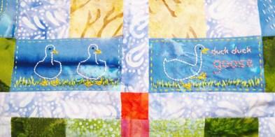 duck duck goose embroidery-- Rebecca Górzyńska