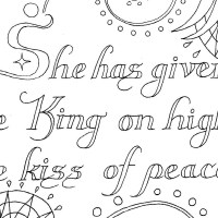 'Caritas Abundat' ('Love Abounds') Hildegard of Bingen — Catholic Coloring Page