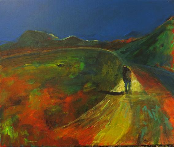 Khumbu 3 : acrylique sur lin, 46 x 55 cm