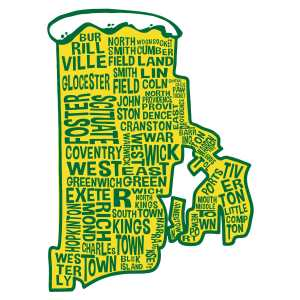 RI Del's Sticker with Cities
