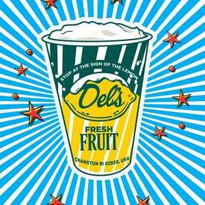 Del's Blue Pop Art Poster