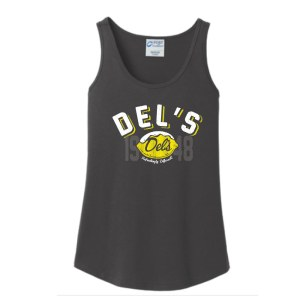 Del's Ladies Tank Charcoal