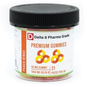 Delta 8 Gummy Rings Peach