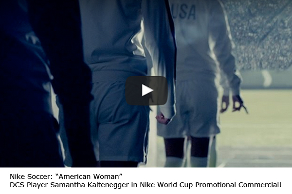DCS Player Samantha Kaltenegger in Nike World Cup Promotional Commercial!