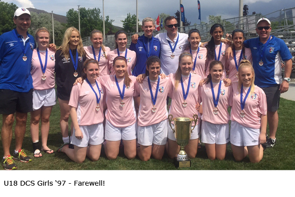 U18 DCS Girls '97 - Farewell!