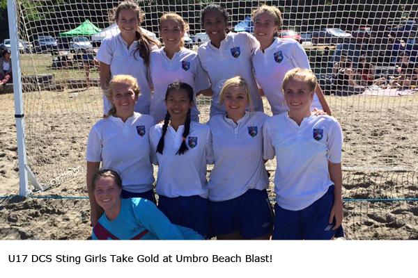 U17 DCS Sting Girls Take Gold at Umbro Beach Blast!