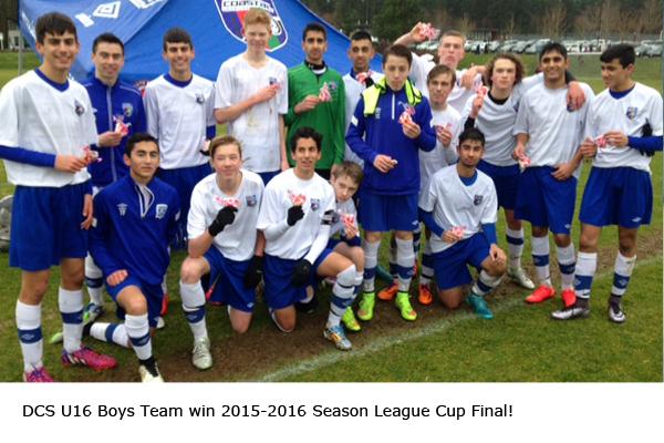 DCS U16 Boys League Cup Winner 2016