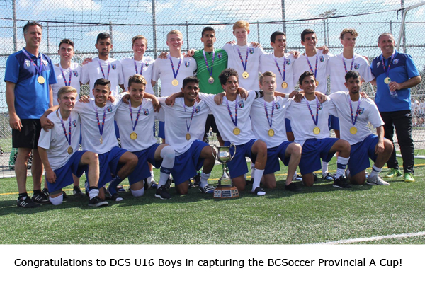 U16 Boys are the 2016 Provincial A Cup Winners!