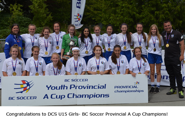U15 Girls take gold in BC Soccer Provincial A Cup!