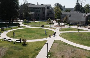 Campus looked more sparse than usual at the beginning of the semester in August. PHOTO BY MICHAEL R.N. WEBER