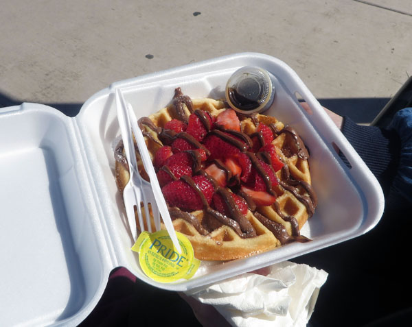 Nutella and strawberry waffle from Waffle Craves.