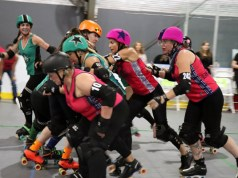 Port City Roller Girls and the Outlaws face off in the last game of the season at Stockton Indoor Sports Complex on Oct. 6.