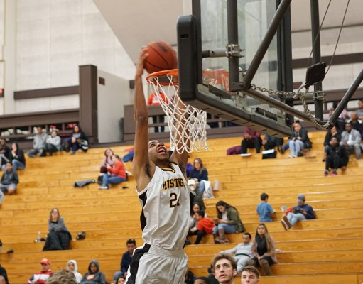 Spencer Monteiro goes up for a dunk.Photo by Marshal Romo