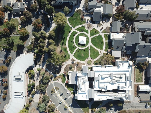 The Delta College campus is seen from above on Oct. 31. PHOTO BY THE COLLEGIAN