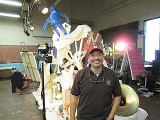 Delta College art Professor Mario Moreno both teaches and inspires students on campus. PHOTO BY MATTHEW MILLSAP
