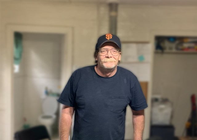 Ron Randall lives in the main studio apartment at El Rio Mobile Home Park in Stockton, California.
