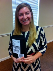 Lily won the grand prize of a Kindle