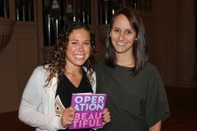 Caitlin Boyle creator of Operation Beautiful and Hallie our Risk Management Chair