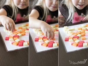 """Mamamiss.com has an excellent how-to for building, """"Little Picasso: Starburst Candy Mosaic."""""""