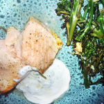 Recipe: Rosemary Lemon-Baked Salmon with Mint Yogurt Sauce | Oral and Overall Health Benefits