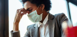 woman with stress-related oral health problems