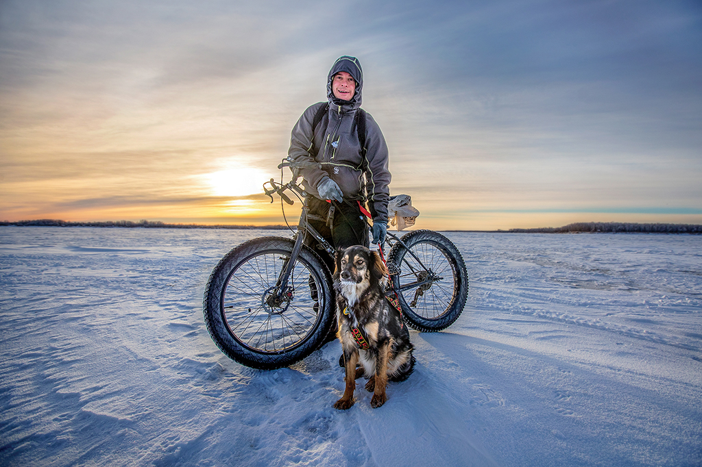 Extreme BikingBen Kuntz of Bethel and his faithful dog Ruby were out on a fat biking excursion on the frozen Kuskokwim River last Sunday. The big tires of the Surly fat bike make it fun to ride on extreme terrain, such as the snow-covered river.