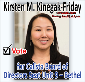 Vote for Kristen M Kinegak-Friday
