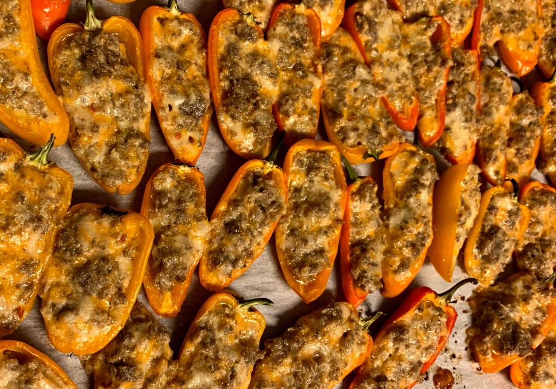 Sausage Stuffed Mini Peppers 1