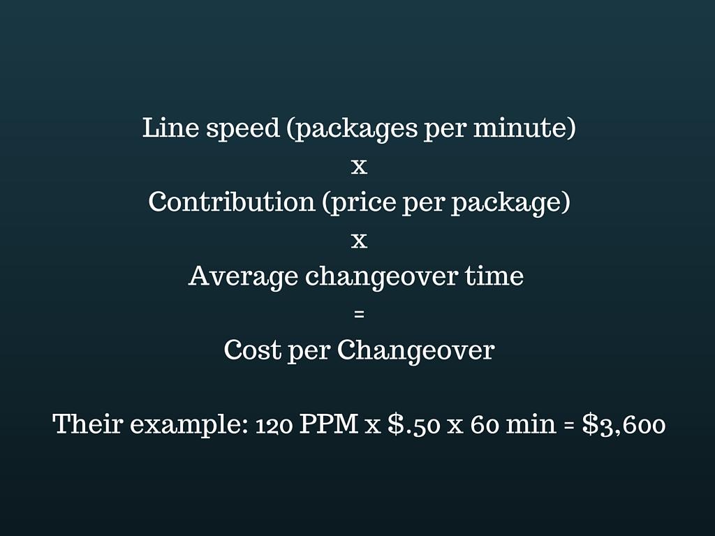 Changeover calculation 1