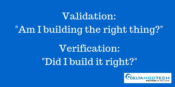 Validation and Verification