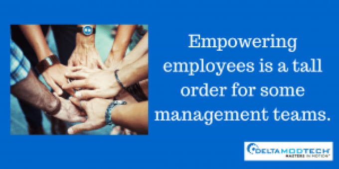 Empowering employees may be a tall order.