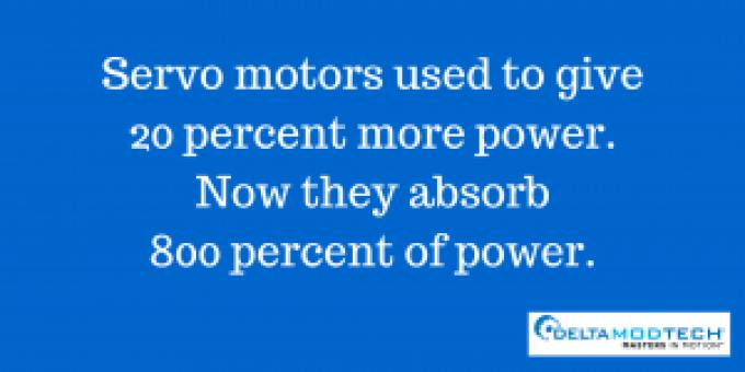Servo motors absorb 800 percent of power.