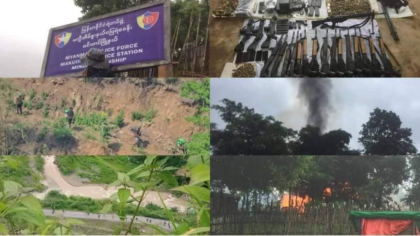 တိုက်ပွဲပြင်းထန်ခဲ့တဲ့ မင်းတပ်မြို့နယ်မှာ စစ်အုပ်စုဘက်က ပိုအထိနာ