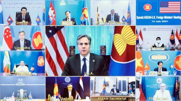 အာဆီယံမှာ အမေရိကန်နိုင်ငံခြားရေးဝန်ကြီးက မြန်မာ့အရေးဆွေးနွေးမယ်